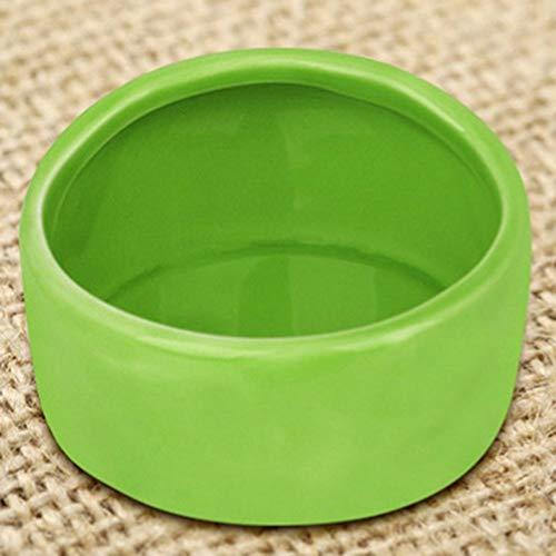 Emily Lovely Hamster Ceramic Bowl Portable Food Water Snack Feeder for Little Pets Green 664cm