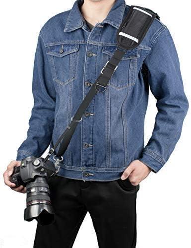 Cinghia da Tracolla in Tessuto Jeans x Reflex Nikon Canon Sony Pentax Minolta