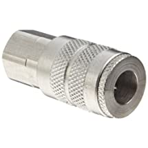 """Dixon DC20S Stainless Steel 303 Air Chief Industrial Interchange Quick-Connect Hose Fitting, 1/4"""" Coupling x 1/4"""" NPT Female"""