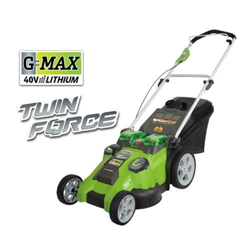 Greenworks 20-Inch 40V Twin Force cellular Lawn Mower 25302 Valuable Price