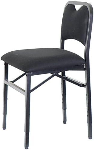 Adjustrite Folding chair height adjustable, padded and ergonomic - VIVO, Black (M)