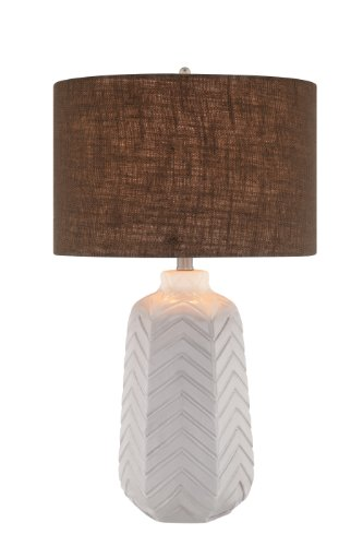 catalina-19063-001-3-way-27-inch-ceramic-chevron-table-lamp-with-white-glaze-and-grey-textured-linen