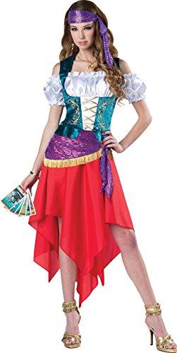 Mystical Gypsy Adult Women's Halloween Costume Fortune Teller Dress SM-XL]()