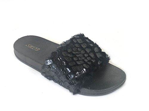 SKO'S , Tongs pour femme Black (F3)