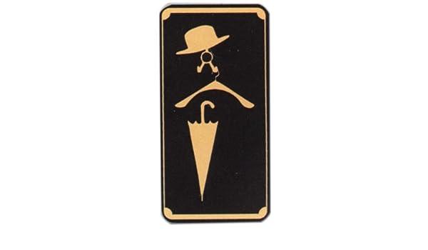 Cartel - producto escudo marrón - pictograma perchero ...