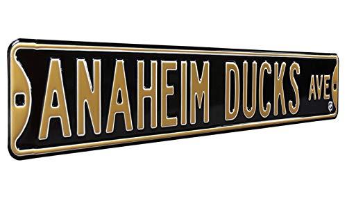 NHL Anaheim Ducks Ave, Heavy Duty, Metal Street Sign Wall Decor
