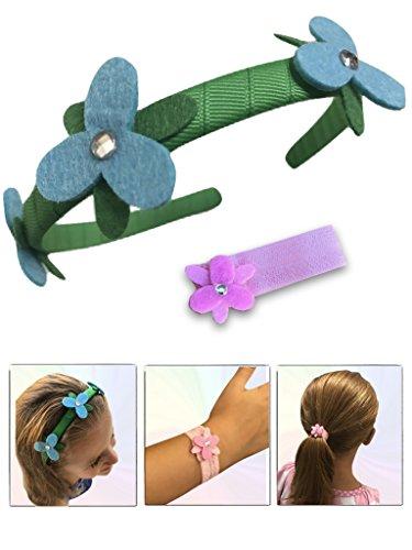 Poppy Headband & Bracelet Hair Scrunchie - for Kids & Adults, Costume, Hair, Wig & Birthday Party