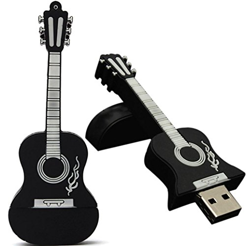 Mchoice 8GB Guitar USB 2.0 Metal Flash Memory Stick Storage Thumb U Disk (Black) ()