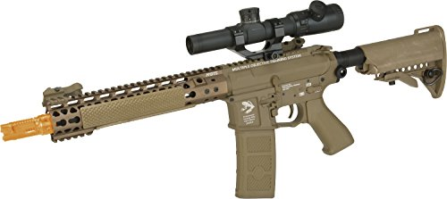Evike G&P FRS Keymod M4 Carbine Airsoft Electric Recoil AEG Rifle (Package: Dark Earth/Gun Only) (Gas Through Magazine)