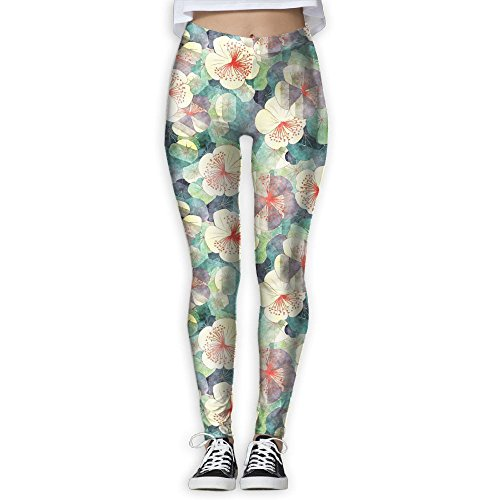 Womens Unique Floral Flowers 3D Printed Yoga Pants Yoga Clothes Duralbe Yoga Clothing For Gym Yoga Running Fitness Small
