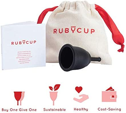 Includes Cup Donation Safe Ruby Cup Convenient Light Flow, Low Cervix, SMALL Perfect for Beginners - PINK Reusable Menstrual Cup Reliable Alternative to Tampons /& Sanitary Towels