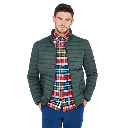 Racing Green Men Dark Green Padded Jacket