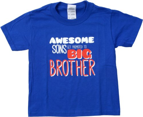 Ann Arbor T-shirt Co. Little Boys' AWESOME SONS GET PROMOTED TO BIG BROTHER Tee