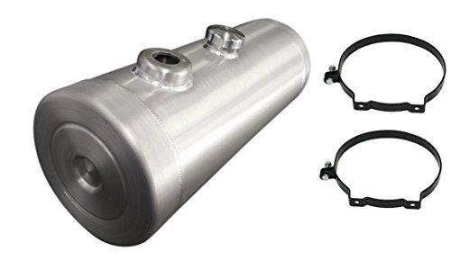 - 8x24 Center Fill Spun Aluminum Gas Tank - 5 Gallon with Sending Unit Flange 1/4 NPT - Trike - Rat Rod - Sandrail - Offroad - Dunebuggy - Baja Bug - Made in the USA!