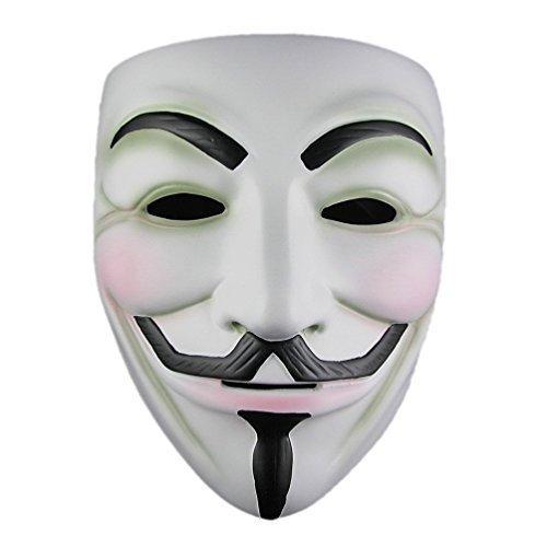 Candance Halloween mask V For Vendetta Mask Resin White (V For Vendetta Masks)