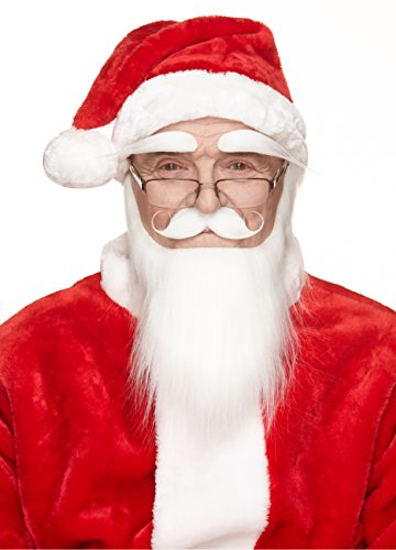 Mustaches Self Adhesive, Novelty, Santa Claus Beard, Mustache and Eyebrows, Saint Nicholas Costume Accessory for Adults]()