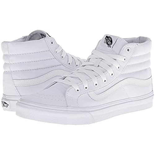 005ce8d0a9815 outlet Vans Unisex Sk8-Hi Slim (Canvas) True White VN000XH7L5R Mens 6,  Womens 7.5. men · Fashion Sneakers