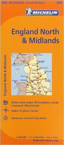 England North  The Midlands 502 MapsRegional Michelin