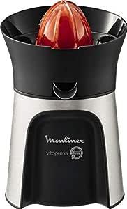 Moulinex Vita Direct Serve Citrus Hand Press Juice Extractor - PC603D27, Silver & Black, Plastic