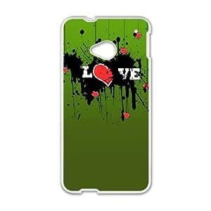 HTC One M7 Cell Phone Case White love me 270 SLI_704728