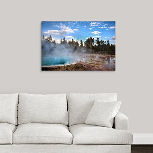 greatBIGcanvas Gallery-Wrapped Canvas entitled Hot Spring at Yellowstone by Circle Capture 36''x24''