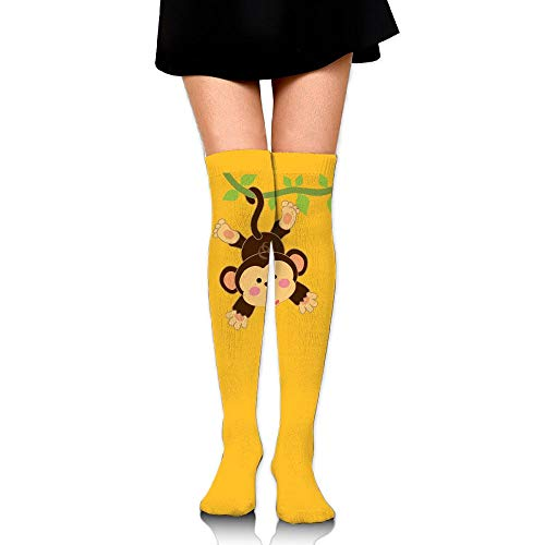 High Elasticity Girl Cotton Knee High Socks Uniform Naughty Monkey Women Tube -