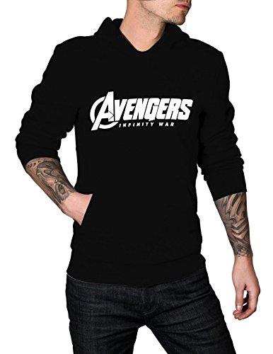 Mens Avengers Infinity War Logo Hoodie | Black, M (Sweatshirt Mens Minion)