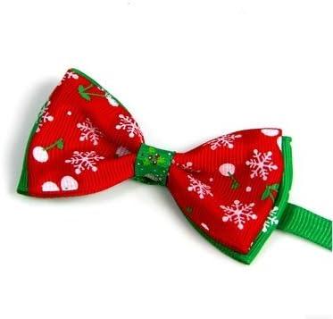 Arpoador Christmas Pet Bow Collar Christmas Snowman Pet Gioielli Catena del Cane Gatto Accessori