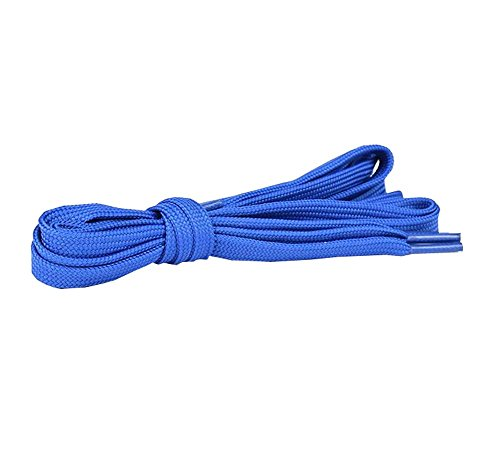 DRAGON SONIC Flat Shoelaces [1 Pairs] Thick - For Shoes, Sneakers & Boots - Blue by DRAGON SONIC