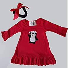 8dfef0c2a6aa Penguin Dress for Infants and available Purse and Headband by Love and Lace