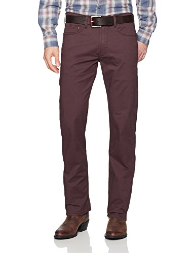 Wrangler Authentics Men's Premium Vintage Straight Fit Stretch Jean, Eggplant, 38X32