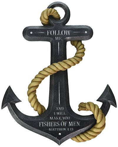 Abbey Gift 56974 Abbey Gift Fishers of Men Anchor Wall Plaque with -
