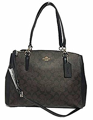 COACH Crossgrain Leather Christie Carryall Handbag (Large, - Online Coach Outlet