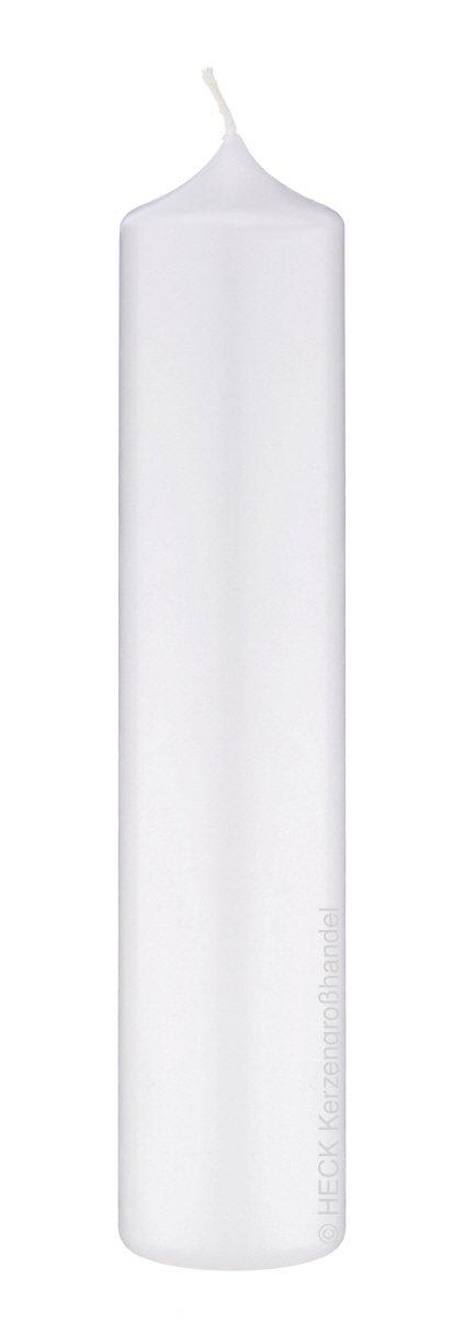 jede Kerze ist handcellophaniert deutsche Marken Kerzen Kopschitz Kerzen in RAL Kerzenqualit/ät 2 Altar Kerzen Wei/ß 30 x 7 cm im XXL Format