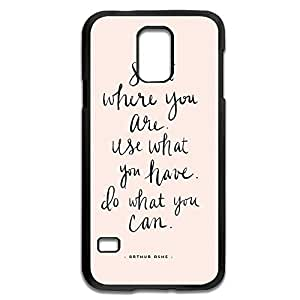 Samsung Galaxy S5 Cases Sayings Design Hard Back Cover Proctector Desgined By RRG2G