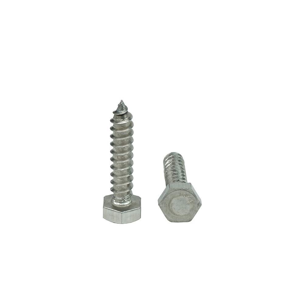 304 Qty 25 by Bridge Fasteners Stainless Steel 1//4-10 x 2-1//2 Hex Head Lag Bolt Screws 18-8