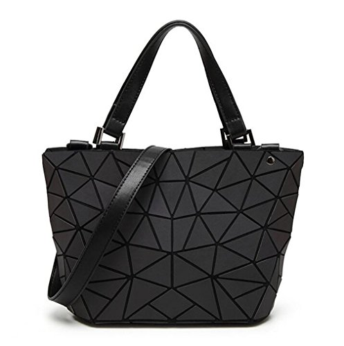 Price comparison product image Bag Women's Geometry Lattic Totes Bag Chain Shoulder Bags Plain Folding Handbags small