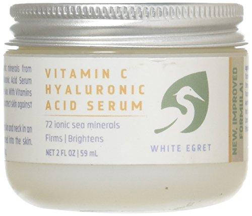 White Egret Vitamin C Hyaluronic Acid Cream, 2 Ounce