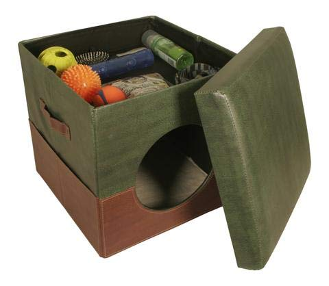 - Wald Imports 70067/GRN Two Tone Brown & Green Collapsible Pet Bed