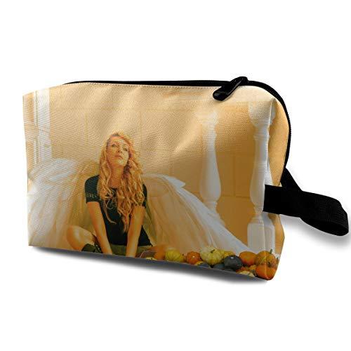 Fantasy Halloween Angel Fantasia Girl Pumpkin Multi-function Travel Makeup Toiletry Coin Bag Case ()