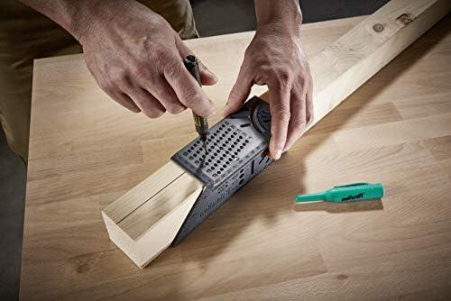 grau Holzbearbeitung 3D Gehrungswinkel messen quadratische Gr/ö/ße Messwerkzeug mit Messger/ät /& Lineal Tools