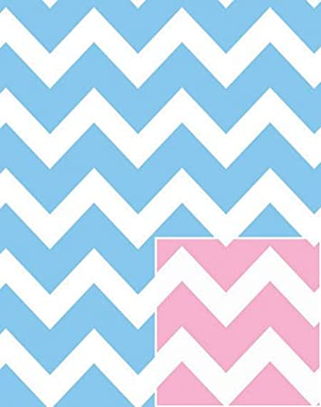Amazon Baby Pink And Blue Chevron Wrap Rolled 24 Inch X 15 Feet
