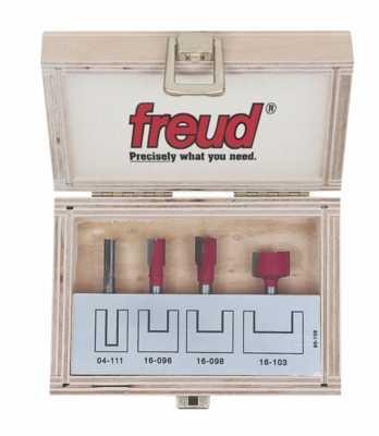 (Freud 4 Piece Undersized Plywood Bit Set (1/4