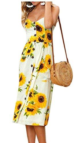 Jaycargogo Femmes Maxi Fines Bretelles Imprimé Floral Robes De Cocktail Décontracté 1