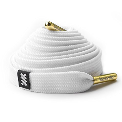 Metal Polyester Thread (Shoelace Belt - White: Premium Quality, 100% Polyester, Metal Aglets, Durable, Comfortable - Lacorda Threads)