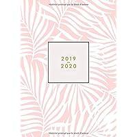 Agenda 2019 2020 Semainier: 18 Mois | Juillet 2019 à Décembre 2020 | Agenda organiseur pour ton quotidien | Calendar & Planificateur 2019 | Motif ... floral rose | Agenda de poche format A5