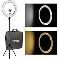 18 inch ZOMEI Camera Photo Video Lighting Kit: 48 Centimeters Outer 55W 5500K Dimmable LED Ring Light, Light Stand, Phone Holder Smartphone, YouTube, Vine Self-Portrait Video Shooting