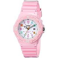 Reloj de acero inoxidable rosa con banda de resina LRW-200H-4B2VCF de Casio para mujer