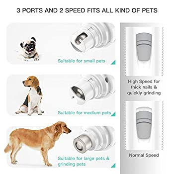 INVENHO Pet Nail Grinder Electric Paw Trimmer Clipper Small Medium Large Dogs Cats Portable & Rechargeable Gentle Painless Paws Grooming Trimming Shaping Smoothing
