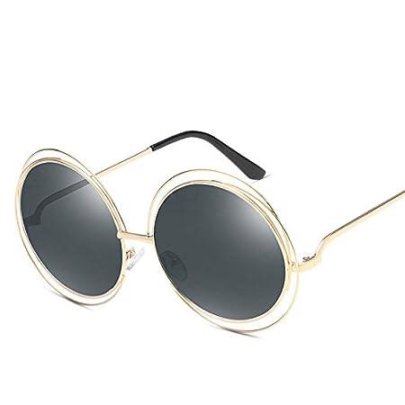 a446c0f3c25 Kanggest Women Sunglasses Retro Oversize Round Frame Sun Glasses UV Eye  Protect Anti Glare Sunglass for